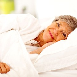 Well-rested senior woman grateful for sleep apnea services in Jupiter